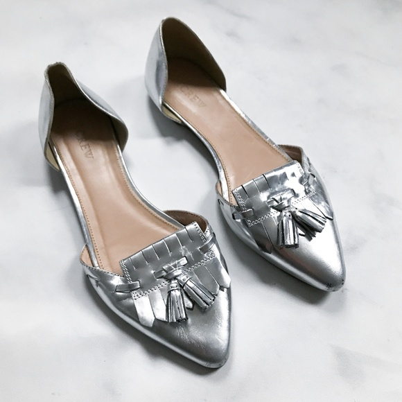 88047b277f6 J. Crew Shoes - J. Crew Mirror Metallic d Orsay Loafer Flats